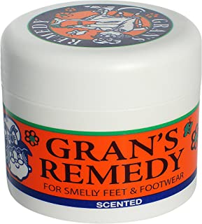 Gran's Remedy Shoe Deodorizer Powder and Foot Odor Eliminator Scented(World #1 Remedy for Smelly feet and Footwear