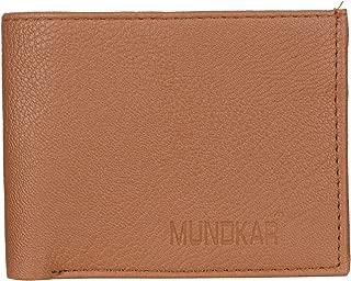MUNDKAR Mens Branded Stylish PU Wallet with RIFID Protection. (TAN)