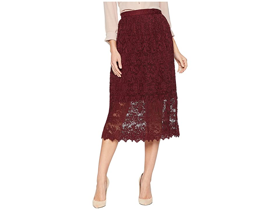 ROMEO & JULIET COUTURE Lace Midi Dress (Wine) Women
