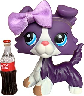 Judy lps Collie #1676 Purple Puppy and White with Blue Eyes Come with lps Accessories Earrings Collars Best Gift for Kids