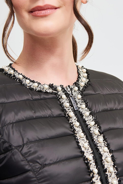 Joseph Ribkoff comfortable quilted nylon jacket