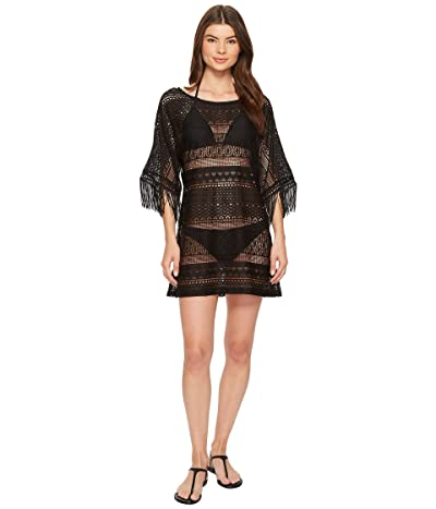 Kenneth Cole Tough Luxe Boat Neck Tunic Cover-Up (Black) Women