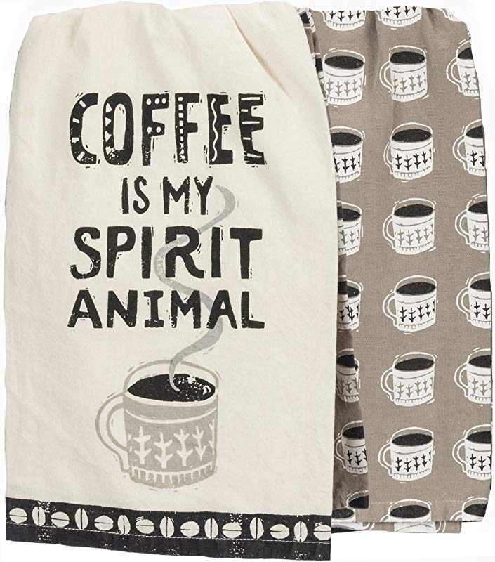 Primitives By Kathy Dish Towel Set Coffee Spirit