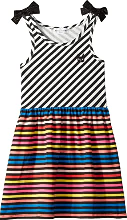 Akasa Sleeveless Multi Striped Dress (Toddler/Little Kids/Big Kids)