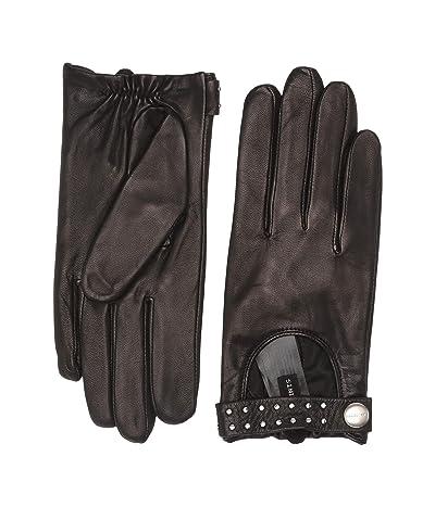 AllSaints Stud Driver Gloves (Black) Extreme Cold Weather Gloves