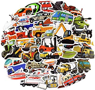 Waterproof Vinyl Truck Car Stickers for Laptop Water Bottle Party Supplies (50 Pcs Vehicle Style)