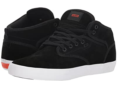 Globe Motley Mid (Black Suede/White) Men