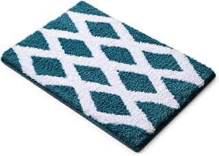 MICRODRY Home Inspirations Collection Soft & Cozy Memory Foam Bath Mat, 17 x 24, Cool Water