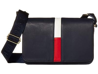 Tommy Hilfiger Carolina Flap Crossbody (Navy/Red/White) Cross Body Handbags