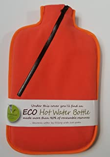 Hugo Frosch 2L Eco Hot Water Bottle with Cover, Highest Quality, Bed Warmer, Stay Warm Camping - Made in Germany (orange)