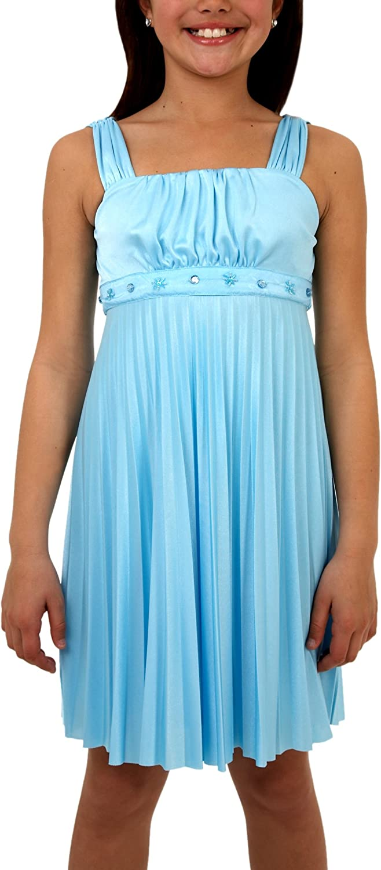 Amy Byer Big Girls' Silky Knit Pleated Dress