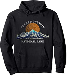 Rocky Mountain National Park Hoodie with Mountain Scenery