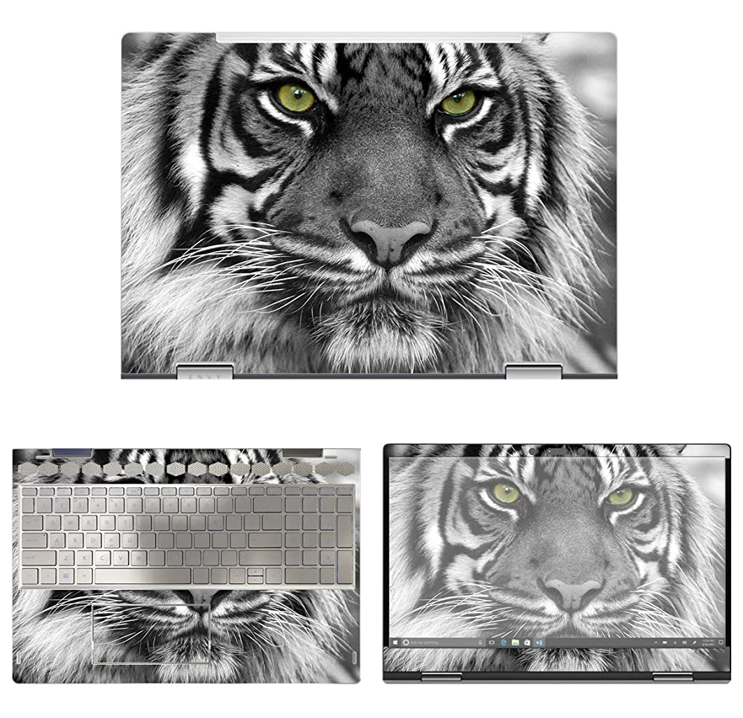 decalrus - Protective Decal Tiger Skin Sticker for HP Envy X360 15M-BP011DX (15.6