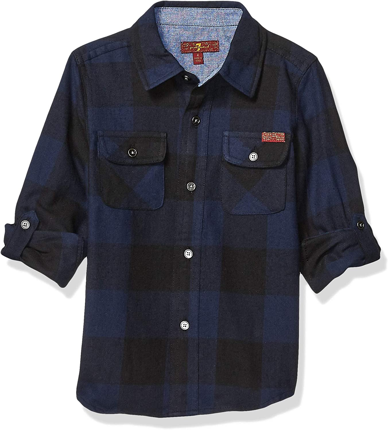 7 For All Mankind New Shipping Ranking TOP3 Free Boys' Long Shirt Flannel Sleeve