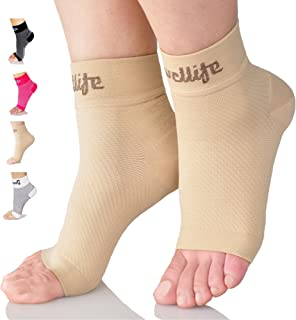 Dowellife Plantar Fasciitis Socks, Ankle Brace Compression Support Sleeves & Arch Support, Foot Compression Sleeves, Ease Swelling, Achilles Tendonitis, Heel Spur for Men Women
