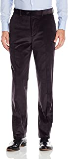 Men's Flat Front Lightly Washed Stretch Cord Trouser