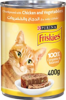 PURINA - FRISKIES Chicken and Vegetables in Chunkpound Wet Cat Food 400g, 12450806-1