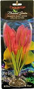 Aquatop Aquatic Supplies 819603016611 Silicone Aquarium Plant, 7.5