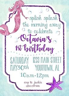 Mermaid Under The Sea Custom Birthday Invitation