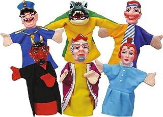 Simba 104586784 - Set de 6 marionetas de mano, 10 cm [Importado de Alemania] , Modelos/colores Surtidos, 1 Unidad