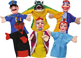 Simba - 104586784 - Ensemble de Marionnettes à Main - Punch et Judy - 6 Pièces