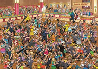 Crowd Pleasers Ballroom Dancing Puzzle 1000 Pieces Jigsaw Puzzle by Jan Van Haasteren
