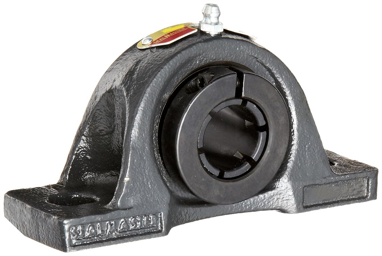 Sealmaster NPL-31TC Pillow Block Ball Bearing, Non-Expansion Type, Normal-Duty, Regreasable, Skwezloc Collar, Contact Seals, Cast Iron Housing, 1-15/16