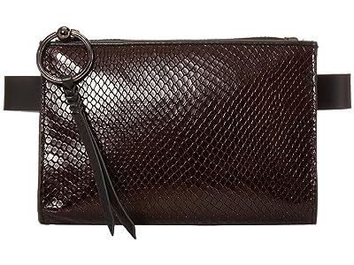 Rebecca Minkoff 20mm Metallic Snake Belt Bag (Ganache) Women