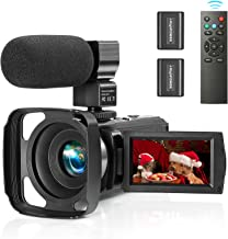 ZUODUN Camcorder Video Camera YouTube Vlogging Camera Recorder Full HD 1080P 30FPS 36MP 3.0 inch Touch Screen IR Night Vis...