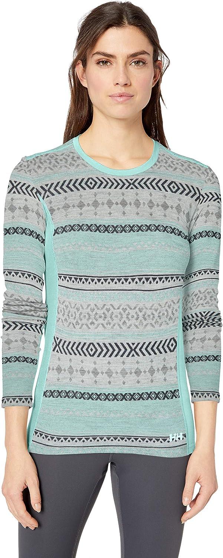 Helly-Hansen Womens W Merino Wool Mid Graphic Long-Sleeve Baselayer Top