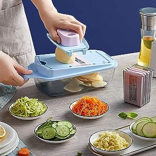 Coupe-légumes Trancheuse avec Récipient,Trancheur de Mandoline Potato Cutter Multifonction Coupe-Oignon Dicer,Food Cutter ...