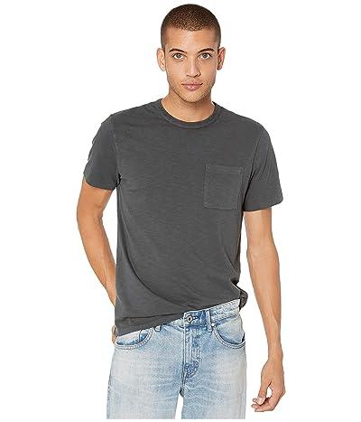 J.Crew Garment-Dyed Slub Cotton Crewneck T-Shirt (Black) Men