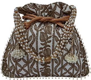 محفظة نسائية لحفل زفاف مصمم حفلة الزفاف / حقيبة مجوهرات / حقيبة يد بوتلي الهندية