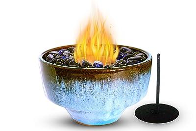 Kosher Bio Ethanol Tabletop Fireplace Ceramic Bowl