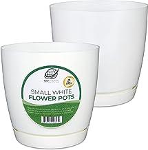 محصولات YOUniversal - گلدان گل پلاستیکی سفید کوچک - 2PK