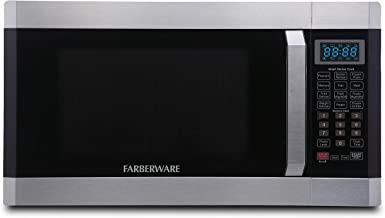 Farberware Professional FMO16AHTPLB 1.6 Cu. Ft. 1100-Watt Microwave Oven with Smart Sensor Cooking Technology and Blue LED Lighting