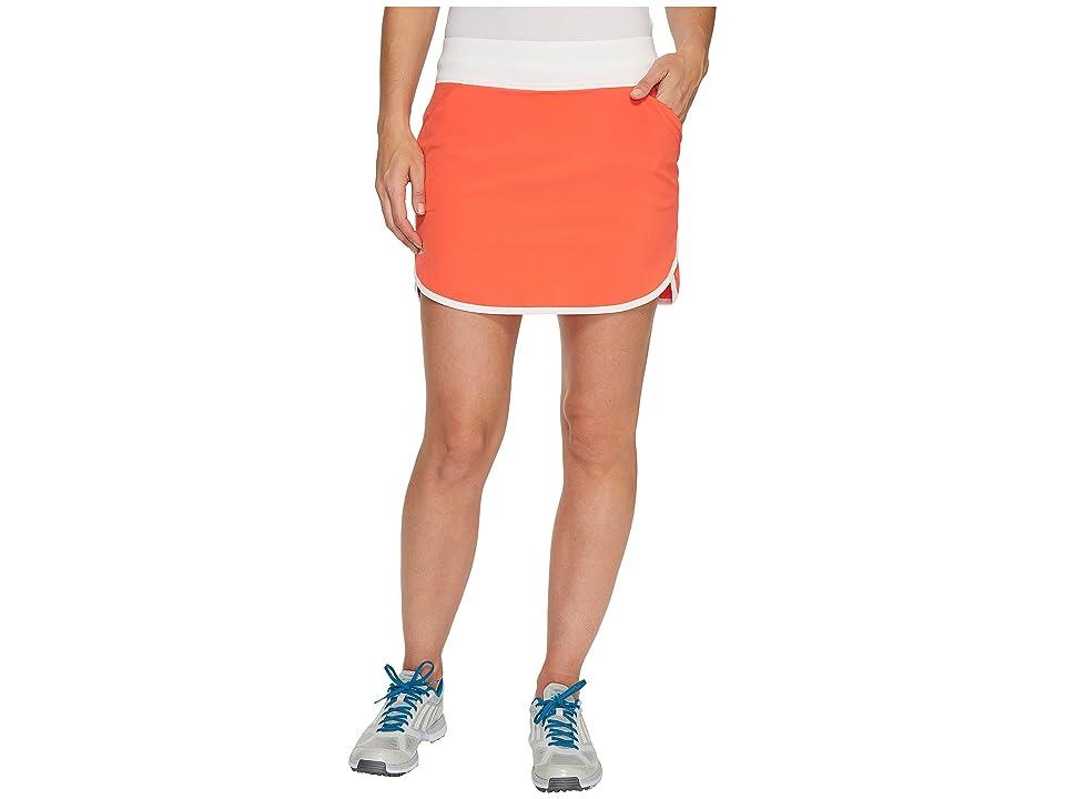 adidas Golf Rangewear Fashion Skort (Energy Coral/White) Women