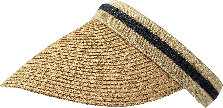 Sun Visors for Women, Woven Summer Spring Straw Garden Beach Hat - Many Elegant Colors