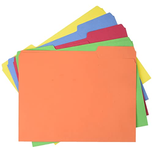 AmazonBasics AMZ401  File Folders - Letter Size (100 Pack) – Assorted Colors
