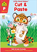 School Zone - Cut & Paste Skills Workbook - Ages 3 to 5, Preschool to Kindergarten, Scissor Cutting, Gluing, Stickers, Sto...