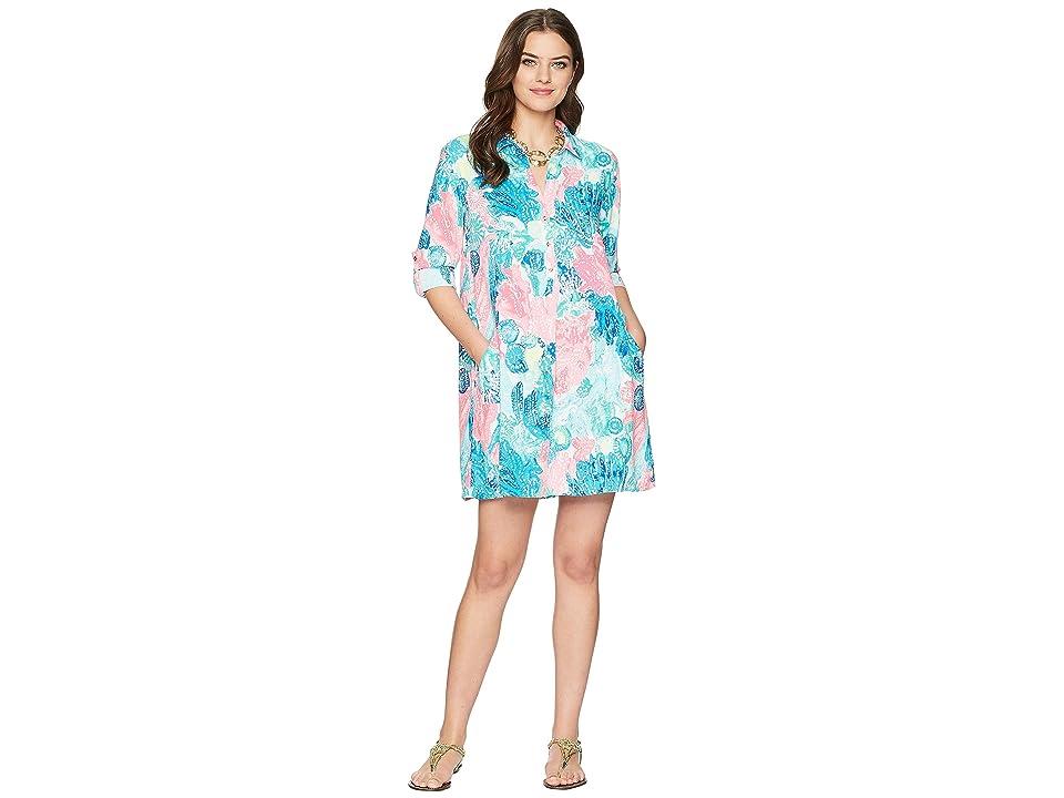 Lilly Pulitzer Lillith Tunic Dress (Multi Boho Batik) Women