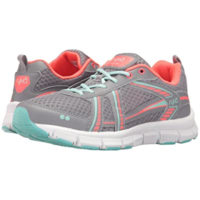 Ryka Hailee SMT (Frost Grey/Eggshell Blue/Electric Coral) Women