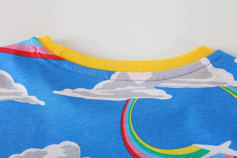 MSSMART Toddler Little Girl Dresses Kids Summer Cotton Casual Dress Size 2-12Years