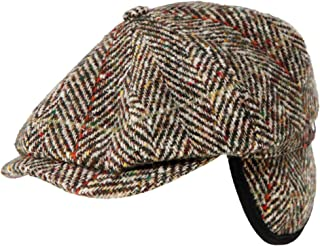 Stetson Men's Virgin Wool Hatteras Herringbone Cap Brown