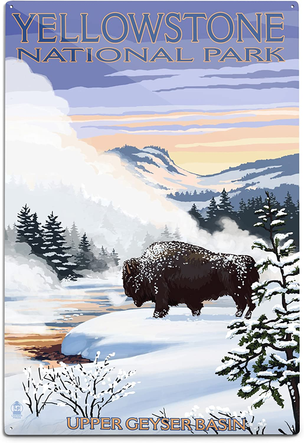 Credence Lantern Limited time cheap sale Press Yellowstone National Park Sce Bison Snow Wyoming