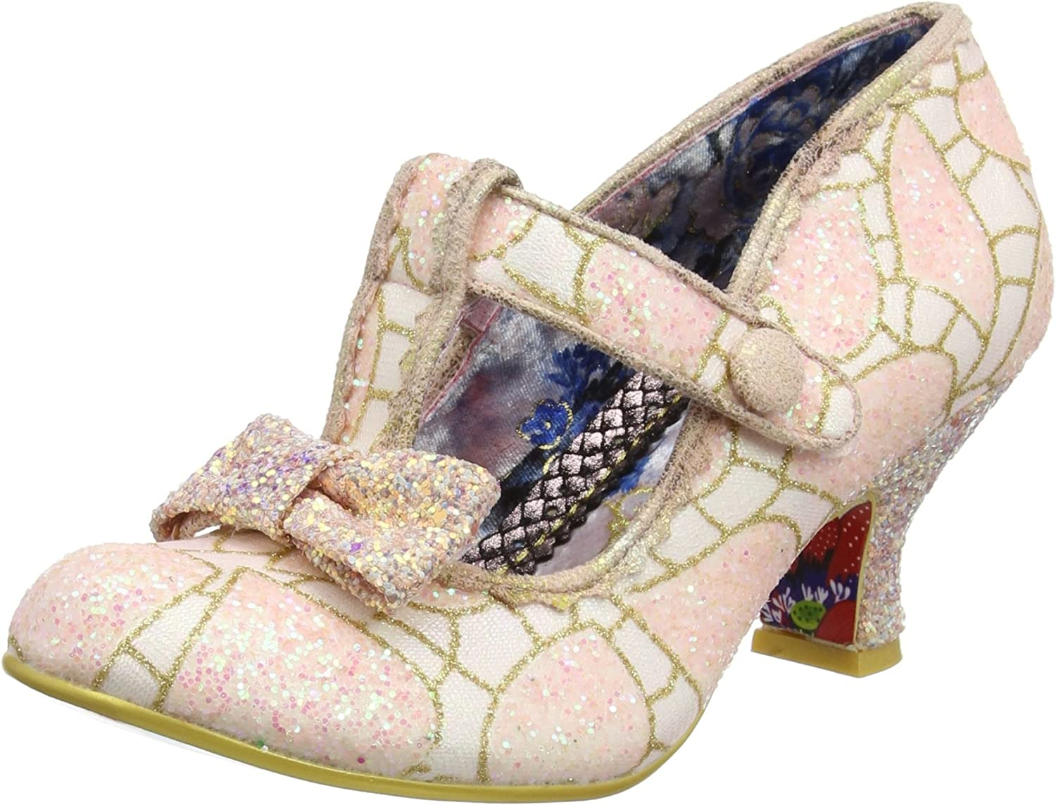 Irregular Choice Lazy River - Pink White (Man-Made) Womens Heels