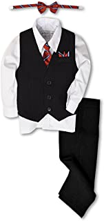 black and white toddler suit