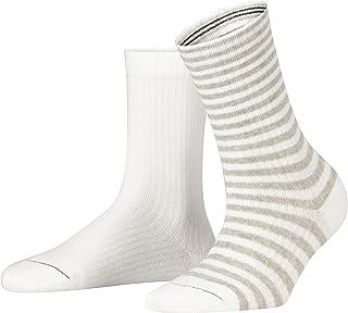 ESPRIT Sporty Stripe 2-Pack Calzini, Bianco (Bianco 2000), 35-38 Donna