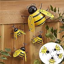 Bee Honeycomb Bumble Hanging Sign Plaque Wood 3D Honeybee Glitter FREE P/&P