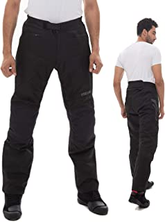 Motorradhose Herren  Easy Going  Sommer Winter Textilhose mit Protektoren Wasserdicht Leicht Stoff   schwarz   XL